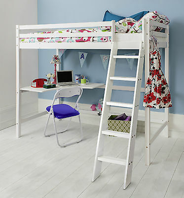 Cabin Bed High Sleeper Kids Bed Bunk Choice of Colours
