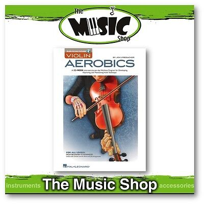 New Violin Aerobics Music Tuition Book with Online Audio Access