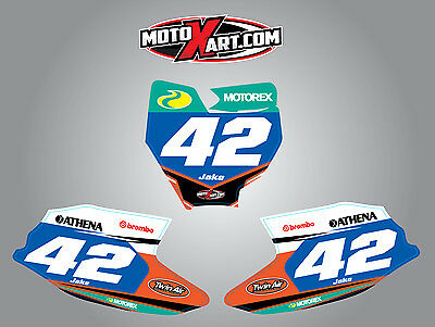 Custom Number Plate stickers for KTM 50 2016 - 2018  STRIKE Style graphics