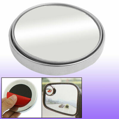 """2"""" Silver Tone Adjustable Round Convex Car Angle Rear View Blind Spot Mirror"""