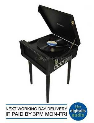 Steepletone Black SRP1R 15 3 Speed Retro Record Player 33,45,78 Turntable USB