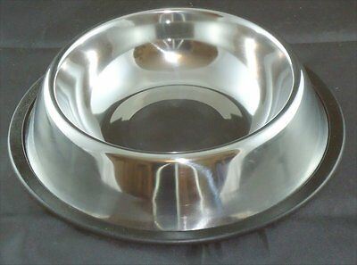 Stainless Steel Pet Bowl - Cat - Dog - Non Slip - 21Cm Approx - Pet Feeding