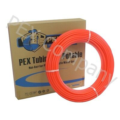 """RED 1"""" x 300 ft PEX Potable Tubing Pipe Outdoor Wood Boiler Distribution"""
