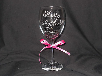 Hand Painted Personalised Wine Glass, Birthday, Mothers Day any occasion, Gift