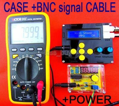 DDS Function Signal Generator Square Sawtooth Triangle Wave + CASE + BNC + POWER