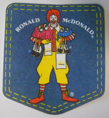 VINTAGE! 1981 McDonald's Happy Meal Ronald McDonald Iron-On Pocket Patch