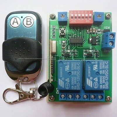 DC 12V MultiFunction Wireless RF Delay Time Timer Switch Relay 315MHZ Self-lock
