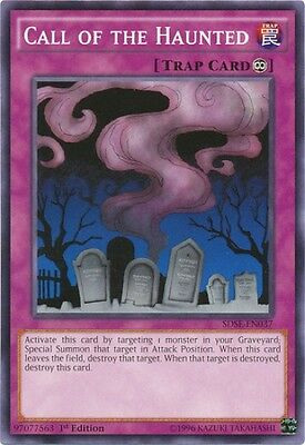 3 x Call of the Haunted (SDSE-EN037) - Common - Near Mint - 1st Edition