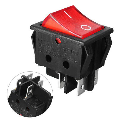On/Off SPDT NO NC Red Button PCB Board Boat Rocker Switch AC 110-220V