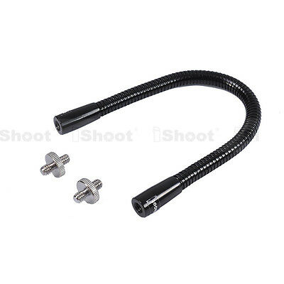 "27cm Flexible Metal Tube+1/4""-1/4"" Adapter Screw for Flash Bracket Tripod Clamp"