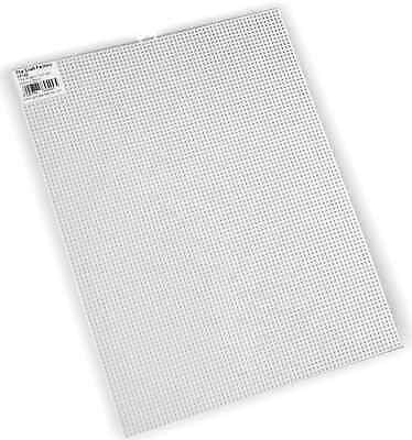 The Craft Factory CF1[29-30] | White Plastic Canvas with 7 Holes Per Inch