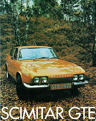 Reliant Scimitar GTE 1971 UK Market Sales Brochure