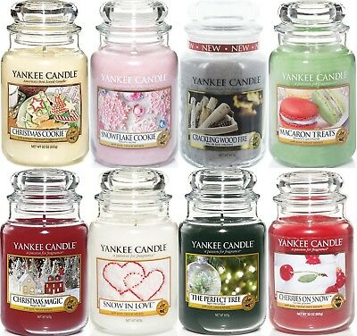 Yankee Candle Christmas Large Jar 22oz -New 2017 Xmas Now in Stock for Dispatch