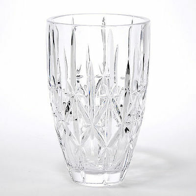 "Waterford Crystal Marquis Sparkle 9"" Vase ~ Brand New, Factory Sealed"