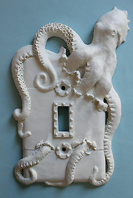 STEAMPUNK OCTOPUS light switch plate wall cover toggle outlet decor kraken