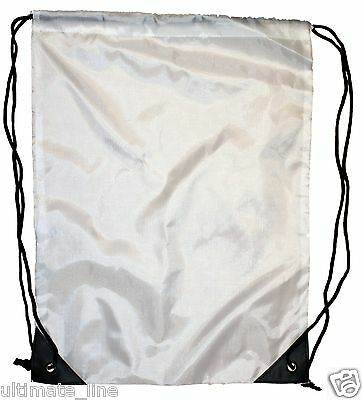 Sublimation Print Blank Drawstring Bag Sack School PE Swim Gym Boot Kid Plain