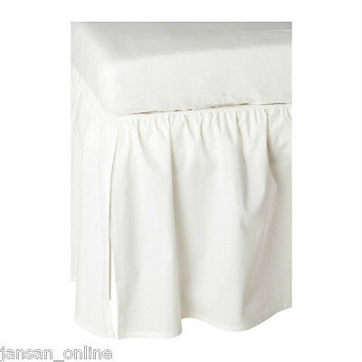 IKEA LEN COT SKIRT- WHITE- 60X120 cm- GIVE WARM & COSY TOUCH TO BABY COTS
