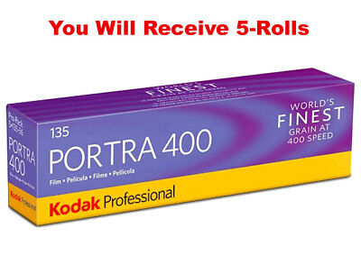 (5 Rolls) Kodak Portra 400 35mm Film 135-36 Color Negative ISO 400 FRESH 07/2020