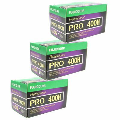 3 Roll Fuji Pro 400H 135-36 35mm Film Color Fujifilm NPH 400 FRESH Exp 12/2019
