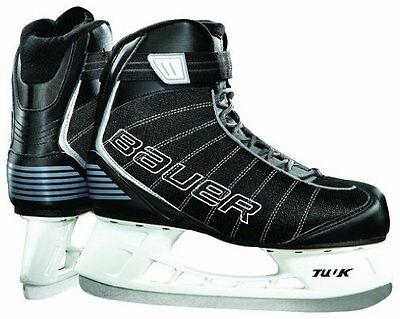 NEW Bauer Flow Rec Mens Ice Skates black Size:8