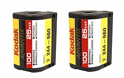 2 Rolls Kodak Advantix Film APS 100 25 EXP C-41 100 ISO IX Bulk 100% Guarantee