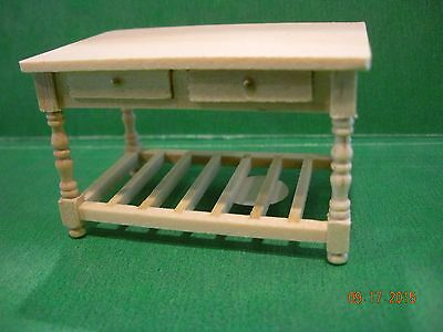 Dollhouse Miniature Half Inch Scale Kitchen / Crafting Table