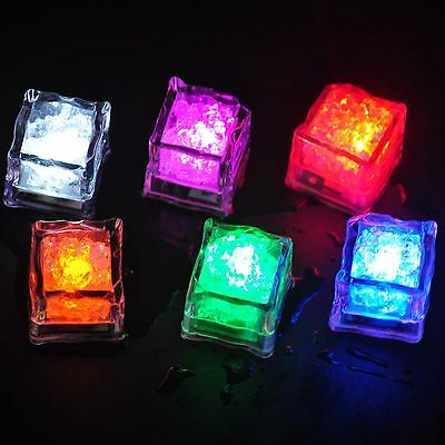 1x Light Up 6Colors Party LED Ice Cubes Luminous in Water Bar Wedding Decoration