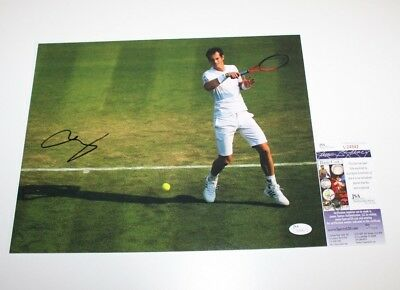 Andy Murray Hand Signed Authentic 11X14 Photo B Jsa Coa 2013 Wimbledon Champ