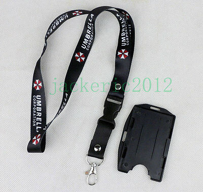 Black UMBRELLA CORPORATION Lanyard ID Card Holder Neck Strap-L0045