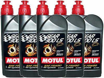 (5L=5.28 Qt) Motul Gear 300 Ls 75W90 100% Synthetic Transmission Lsd Oil