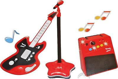 Electronic Guitar With Microphone/Amplifier Musical Play Set NEW