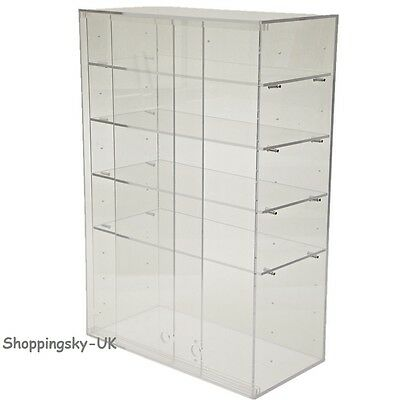 ACRYLIC CABINET Large Clear Display Box Case Stand Shop Counter Top Choice