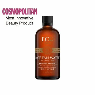 Eco Tan Certified Organic Face Tan Water (100ml) Self Tan NEW Official Stockist