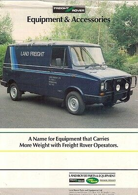 Freight Rover Sherpa Accessories 1985-86 UK Market Leaflet Sales Brochure