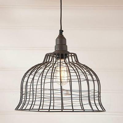 VINTAGE WIRE CAGE PENDANT HANGING Light/FARMHOUSE, COUNTRY LIGHT