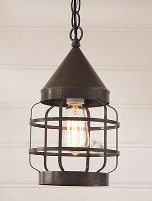 Round Hanging Strap Pendant Light/farmhouse, Country, Primitive Lighting