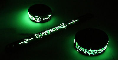 EVANESCENCE  Glow in the Dark Rubber Bracelet Wristband Bring Me To Life vg173