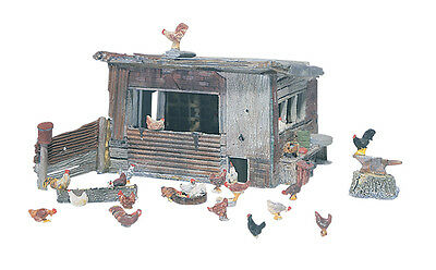 Chicken Coop Kit - Woodland Scenics ******** HO Model Trains Accessories
