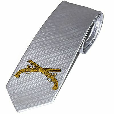 Necktie / Tie with U.S. Army Military Police Corps, branch insignia