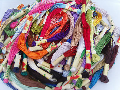 50 Art Silk/Rayon Stranded Skeins Embroidery Thread 50 colours - Great Price