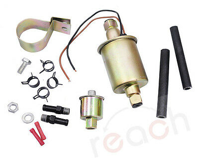 Electric Fuel Pump Gas Diese Carbureted With Installation Kit Universal E8012S