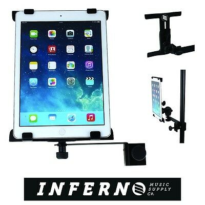 Inferno Music Ipad Mount Holder Clip Microphone or sheet Music Stands adjustable