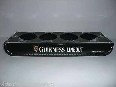 Guinness Rugby 4 Pint Glass Holder Tray Bar/Pub/Home/Collectable - FREE P&P