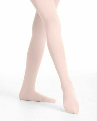 Danskin 727 Girl's Size Small (4-6) Theatrical Pink Convertible Backseam Tights