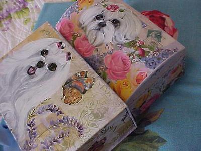 Two Maltese Handpainted Boxes Jewelry/ Misc.