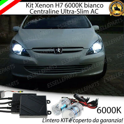 Kit Xenon Xeno H7 Ac 6000K 35W Specifico Per Peugeot 307 No Error Con Garanzia