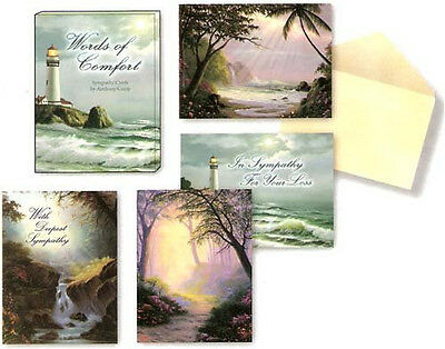 Leanin Tree Sympathy Cards Words of Comfort 12 Set BOX Assortment Made in USA