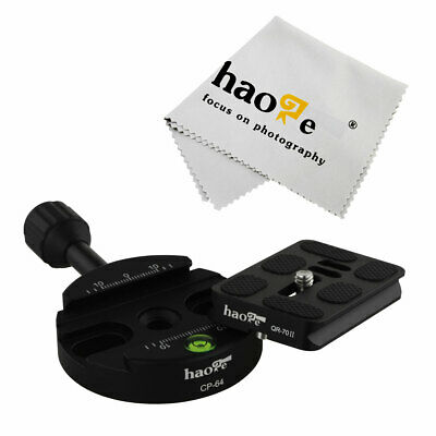70mm QR Quick Release Plate + 64mm Clamp for Camera Ball Head Panoramic Monopod