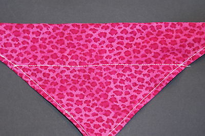 Dog Bandana, OVER THE COLLAR,clothes, pet, Size S,M,L,XL, Pink Leopard!!