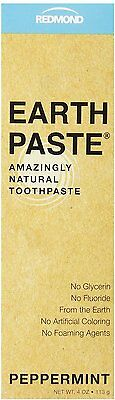 Earthpaste Natural Toothpaste, Redmond Trading Company, 4 oz Peppermint